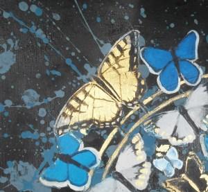 """Papillion"" swallowtail detail"